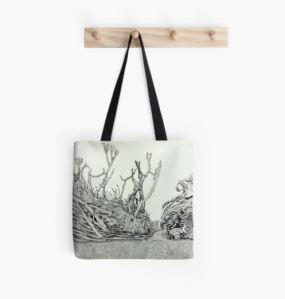Tote bag from the Otherland collection on RedBubble.