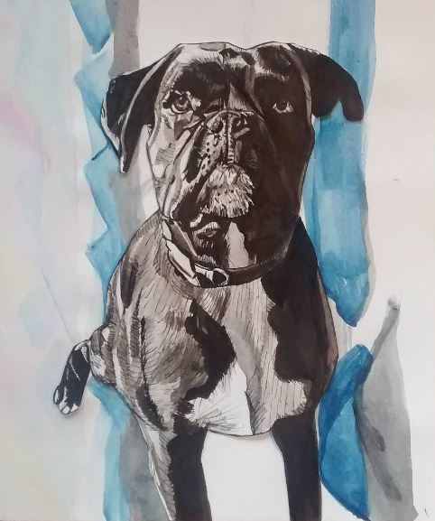 Bruno. Indian ink and felt tip pen, 2015.